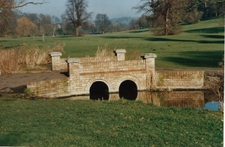 FC172-15 The stream bridge in the Park Jan 2000