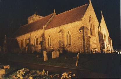 FC316 The Church specially flood-lit Dec 2002