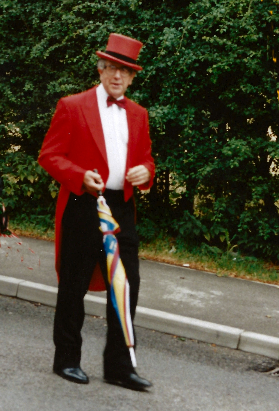 Ed Cheshire on parade 95